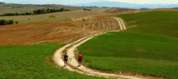 Via Francigena in mountain bike