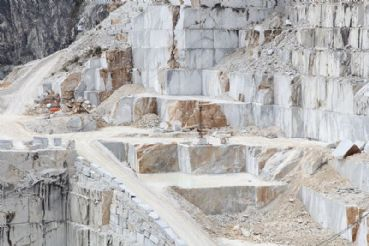 The marble quarries of Carrara one on the Apuan Alps