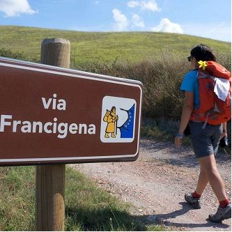 Offer stay and trekking along the Via Francigena from Pietrasanta to Lucca.