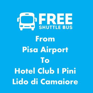 Free shuttle hotel in Lido di Camaiore to Pisa Airport