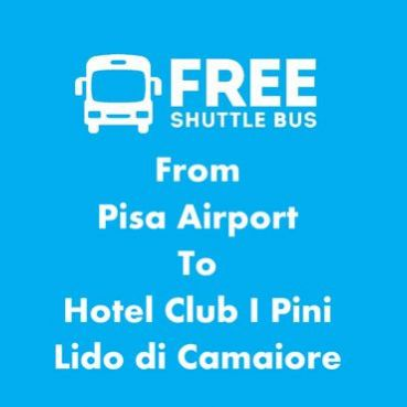 Free shuttle to Pisa Airport