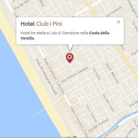 How to reach hotel Club i Pini Lido di Camaiore